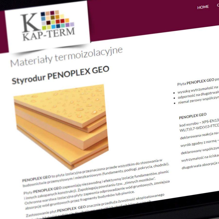 Strona internetowa – www.kapterm.pl