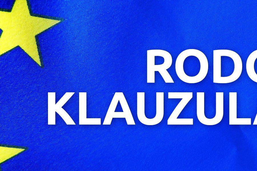 Klauzula RODO – Obowiązek informacyjny na stronie internetowej