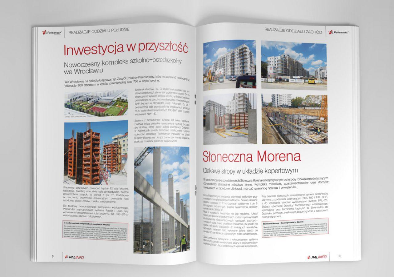 Palisander - Projekt biuletynu - Projektowanie informatora - Projekt kwartalnika - Białystok
