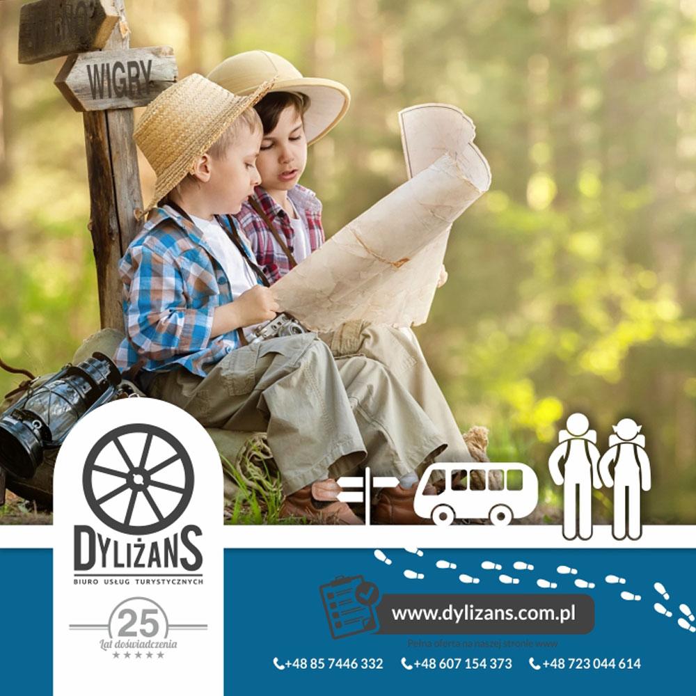 Projekt folderu reklamowego – Dyliżans