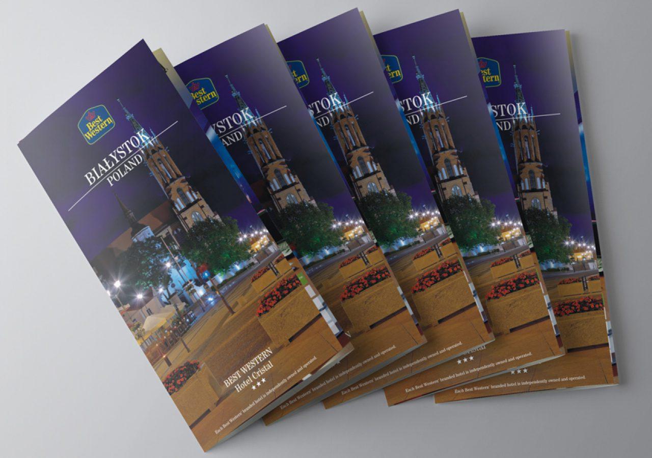 Best Western Hotel Cristal - Projekt folderu - Białystok - Warszawa