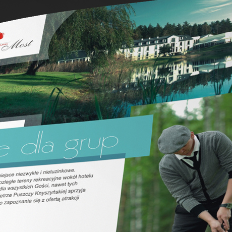 Projekt folderu – Lipowy Most Golf Park