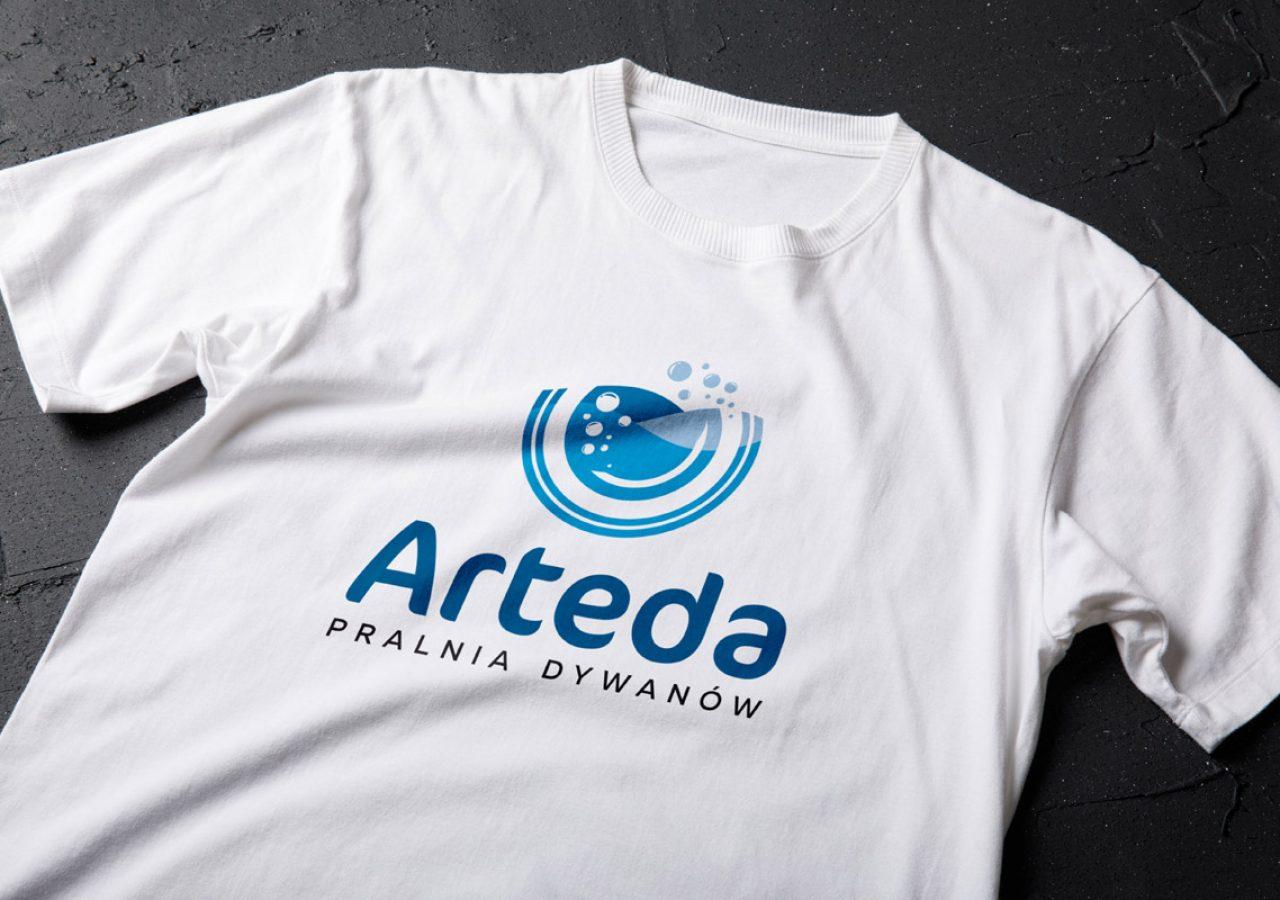 Projekt logo Arteda Pralnia Dywanów - Clouds Agencja Reklamowa Białystok