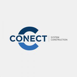 Projekt logo Conect System Construction - Clouds Agencja Reklamowa Białystok