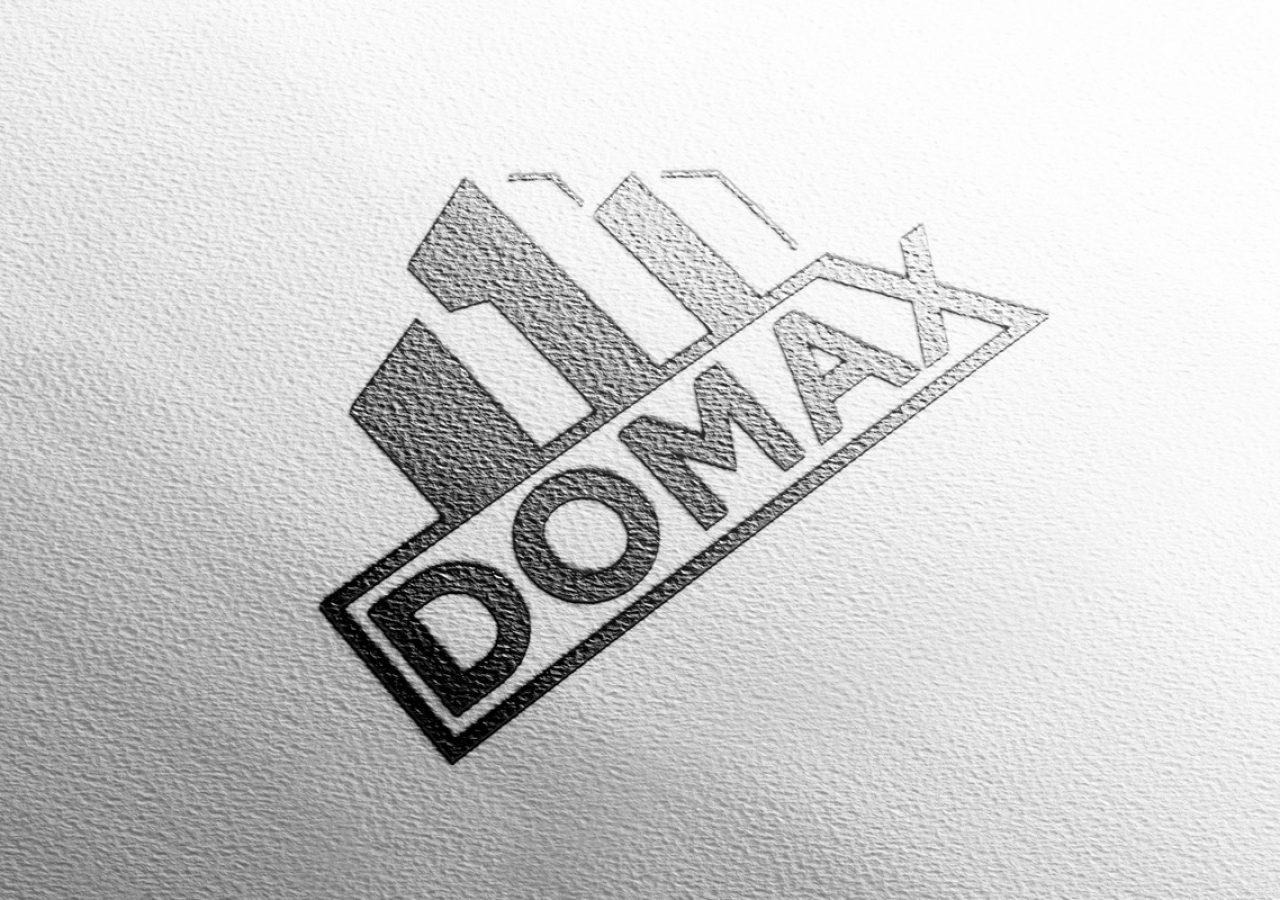 Projekt logo Domax - Clouds Agencja Reklamowa Białystok