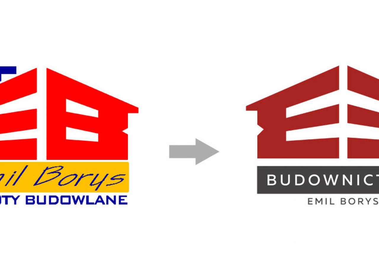 Projekt logo Emil Borys Budownictwo - Clouds Agencja Reklamowa Białystok