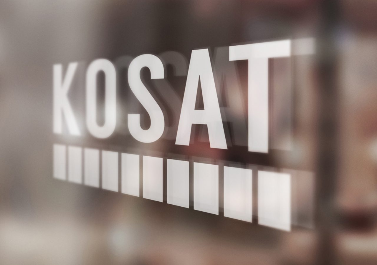 Projekt logo KOSAT - Agencja Reklamowa Białystok