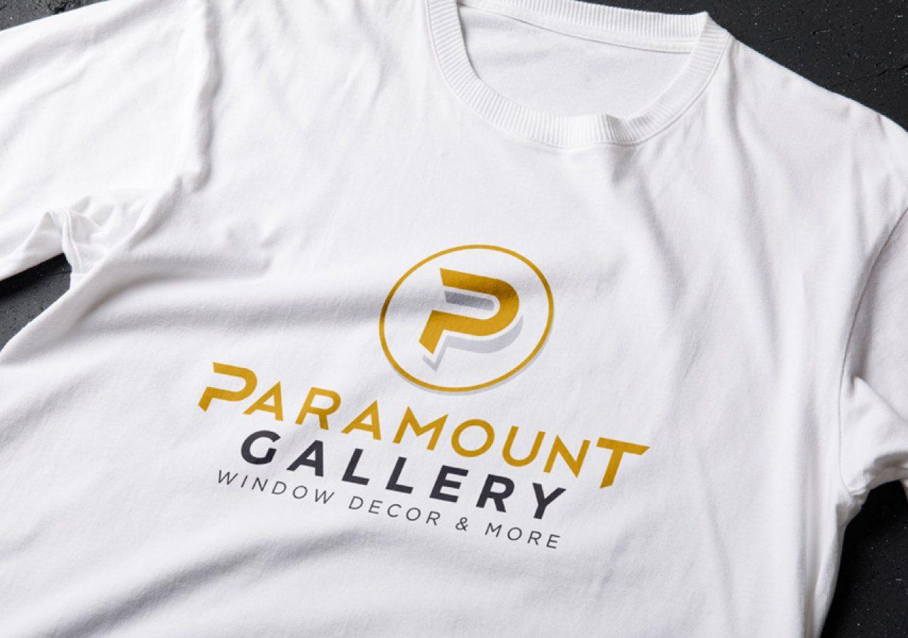 Projekt logo Paramount Gallery - Clouds Agencja Reklamowa Białystok