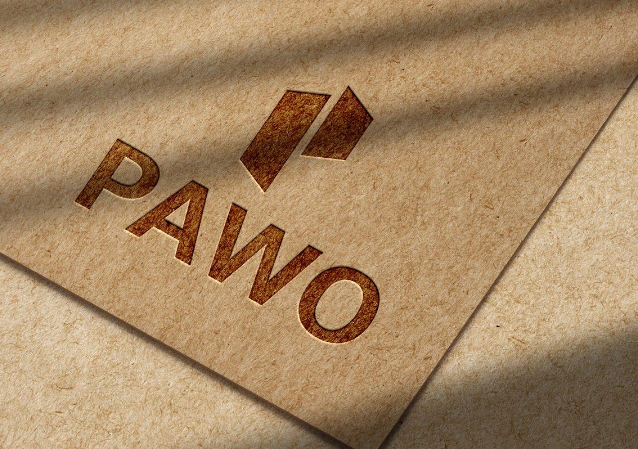 Projekt logo - PAWO Sklep Budowlany Białystok - Clouds Agencja Reklamowa