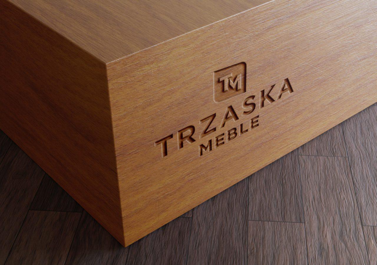 Projekt logo Trzaska Meble - Clouds Agencja Reklamowa Białystok