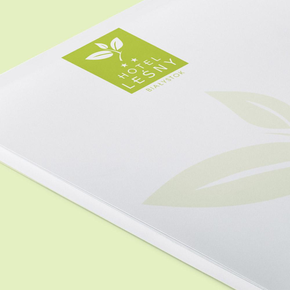 Projekt notesu firmowego – Hotel Leśny