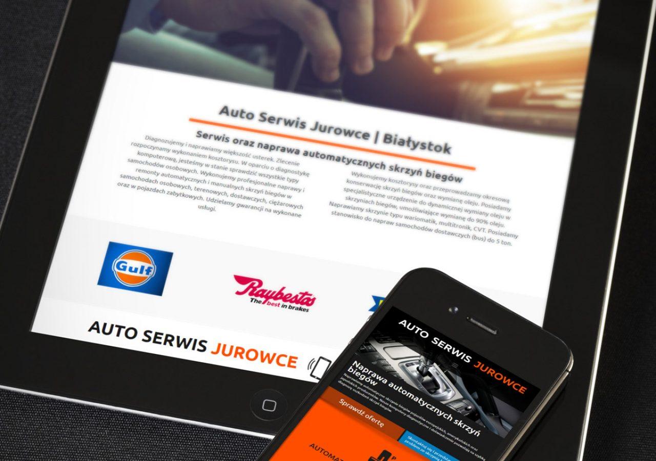 Projekt i wykonanie strony internetowej Autoserwis Jurowce - Projektowanie stron internetowych Clouds.pl