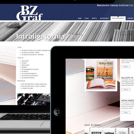 Strona internetowa – www.bzgraf.pl
