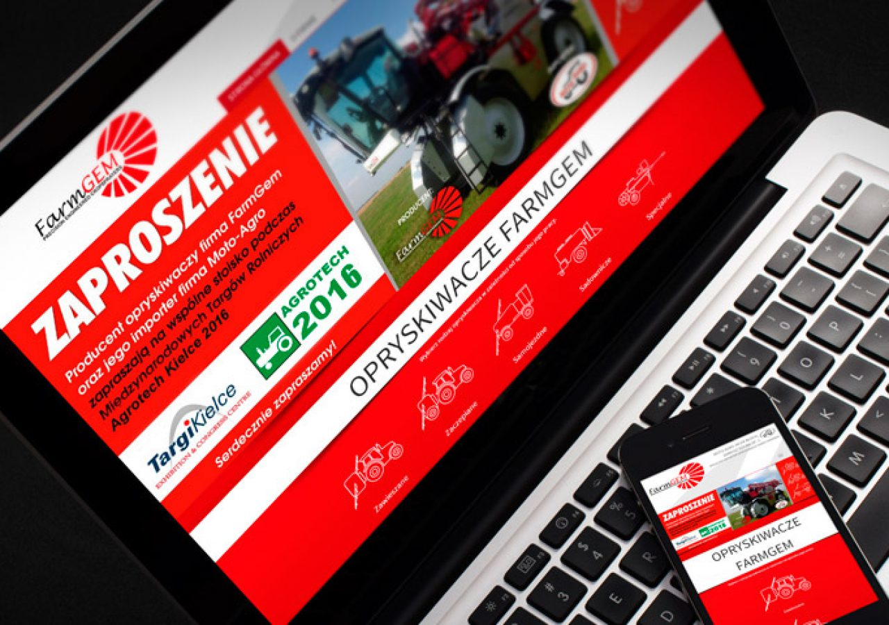 FarmGem - Projekt strony internetowej - Białystok