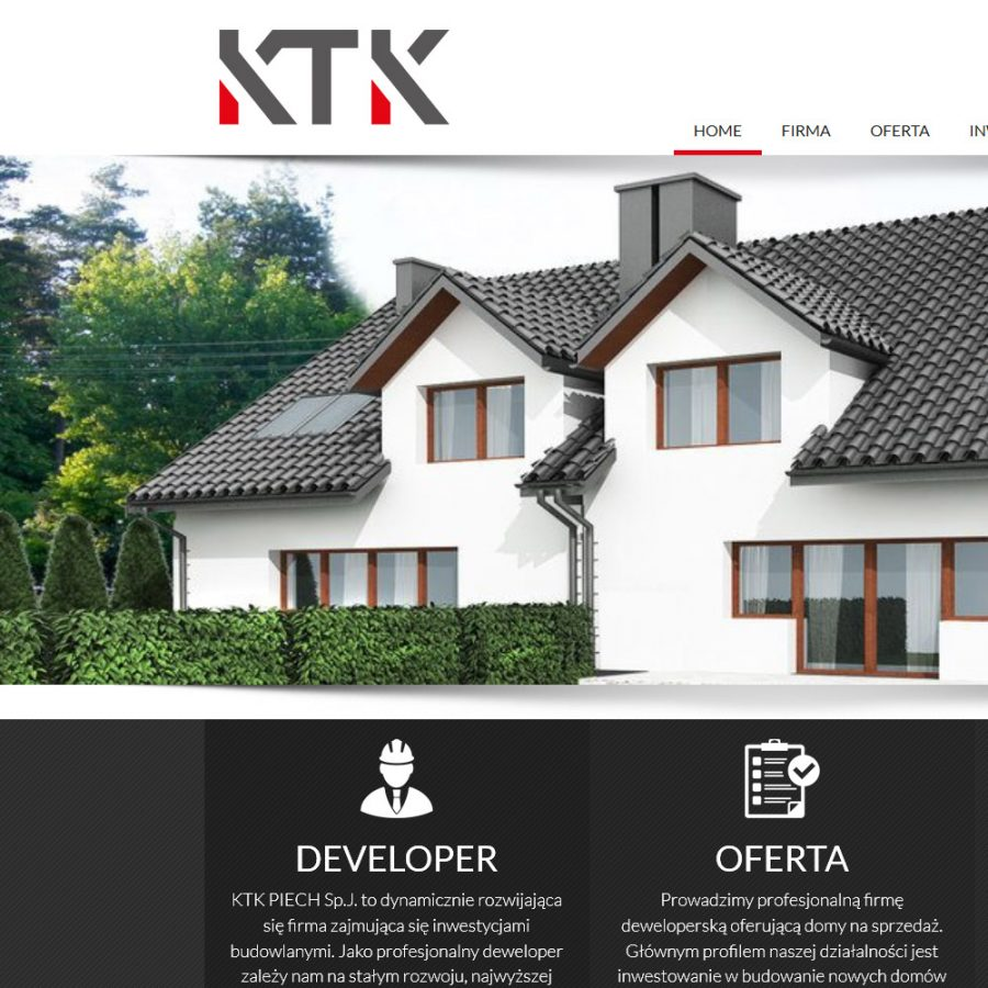 Strona internetowa – www.ktk-developer.pl