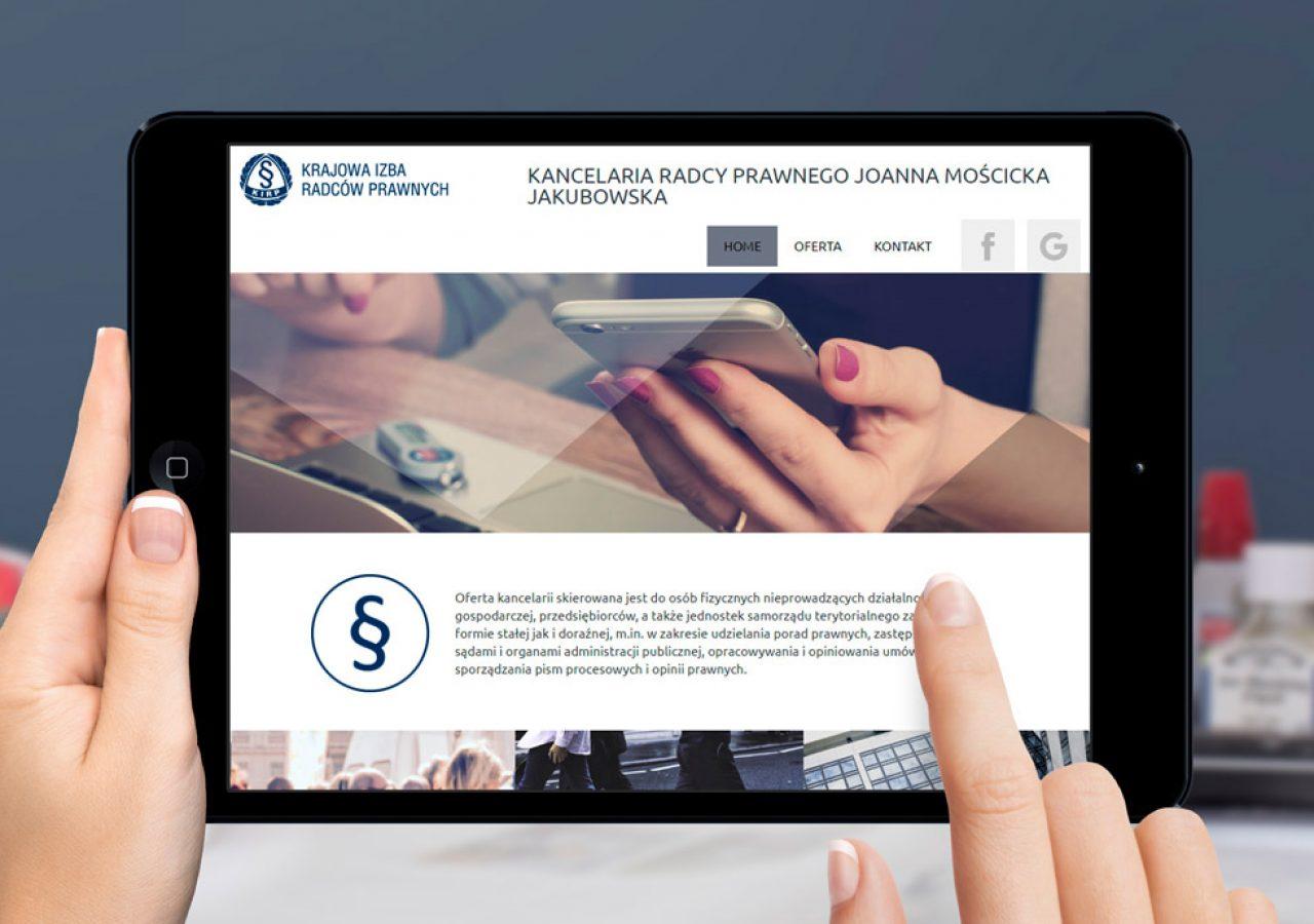 Projekt strony internetowej www.moscicka.pl - Białystok