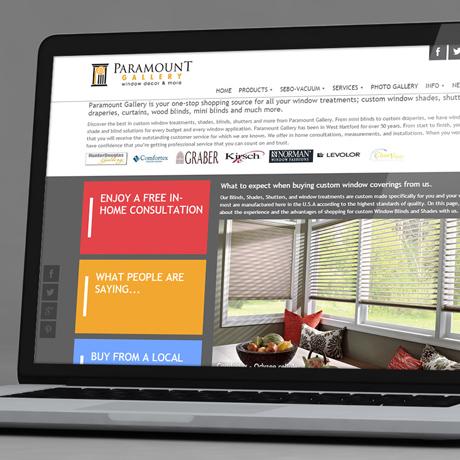 Strona internetowa – www.paramountgallery.us