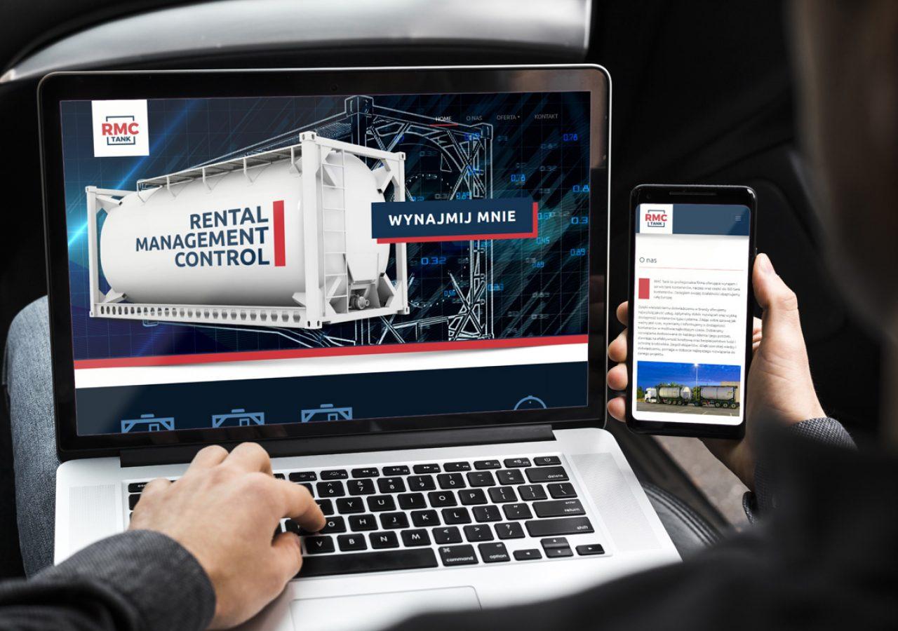 Projekt Strony internetowej RMC Tank - Clouds Agencja Reklamowa Białystok