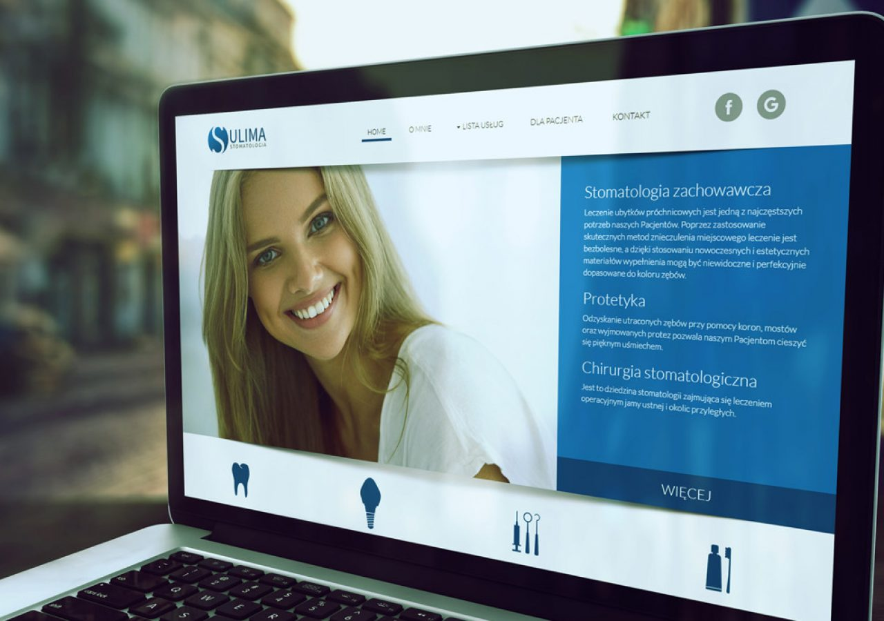 Projekt strony internetowej Sulima Stomatologia - Białystok-Wasilków