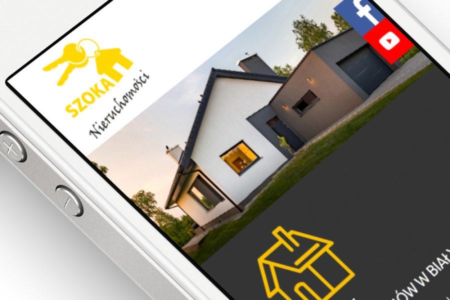 Strona internetowa – www.szokanieruchomosci.pl