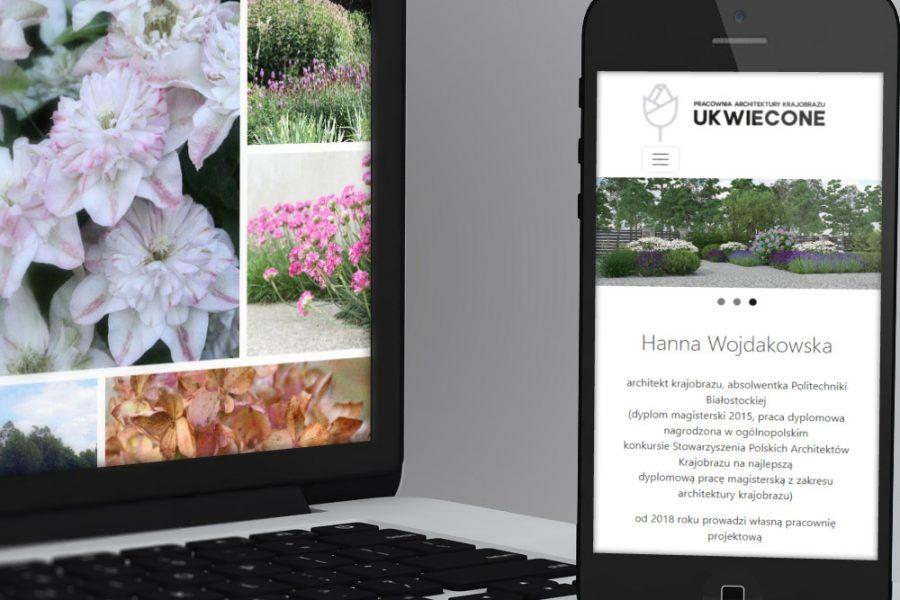 Strona internetowa – www.ukwiecone.pl