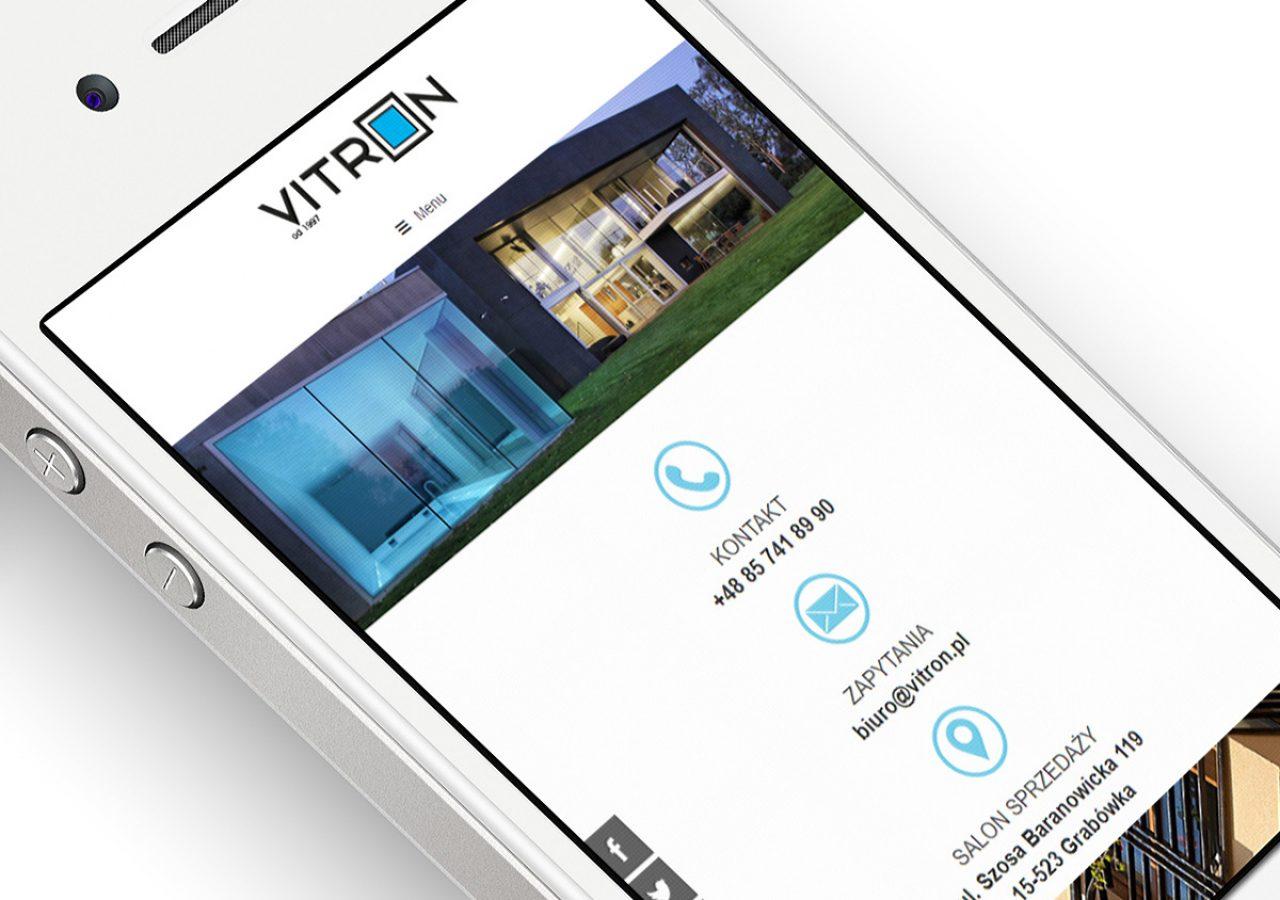Projekt i wykonanie strony internetowej Vitron - Projektowanie stron internetowych Clouds.pl