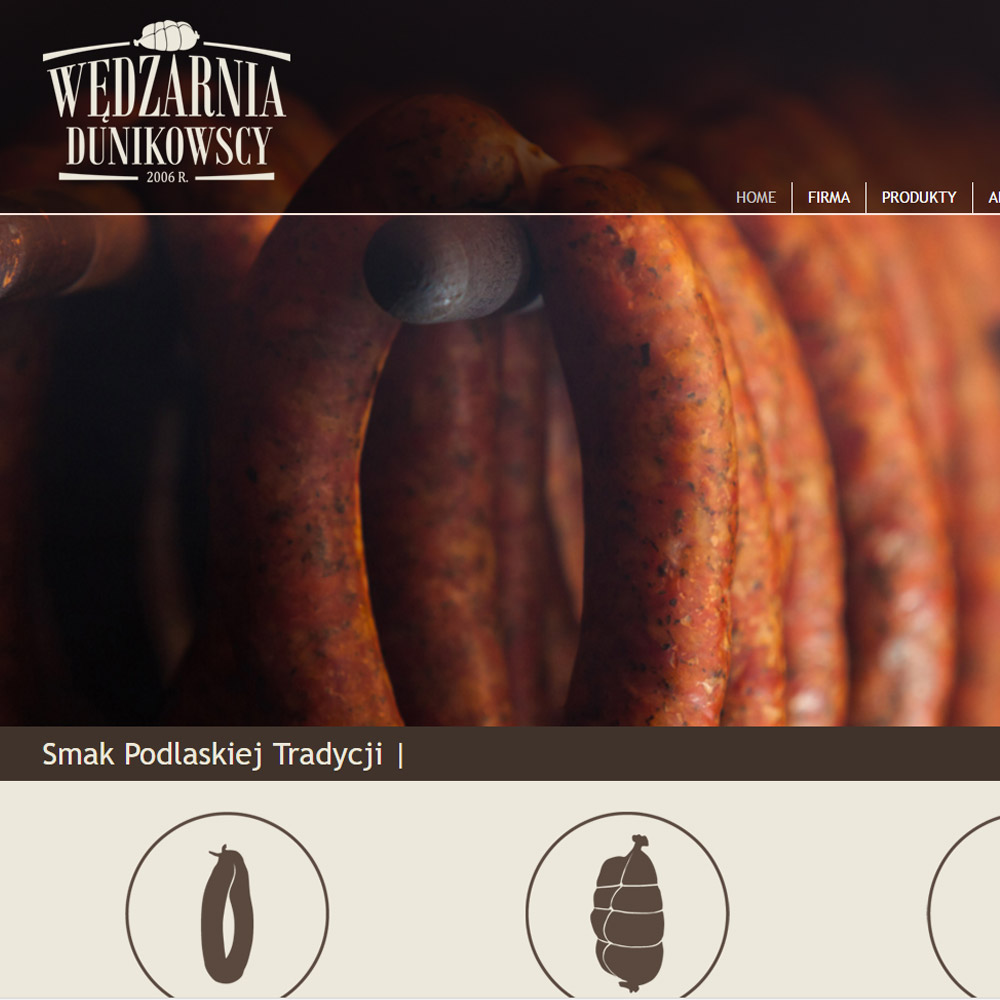 Strona internetowa – www.wedzarnia-dunikowscy.pl