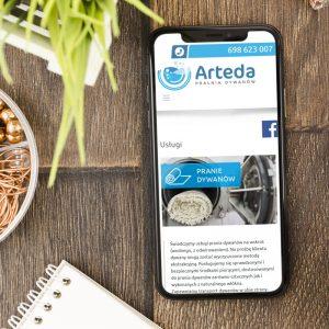 Projekt Strony internetowej Arteda - Pralnia dywanów - Clouds Agencja Reklamowa Białystok