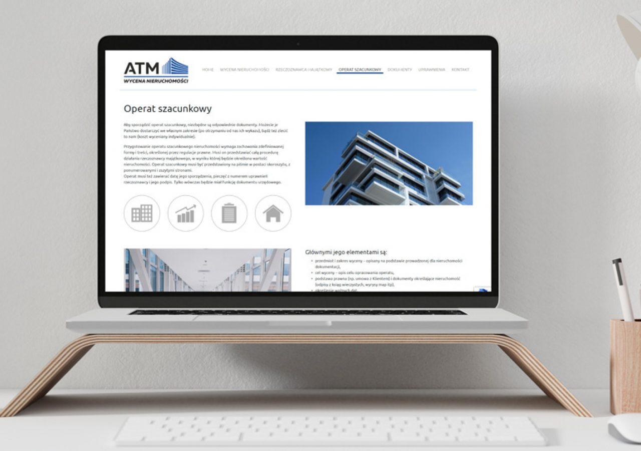 Projekt Strony internetowej ATM Nieruchomości - Clouds Agencja Reklamowa Białystok
