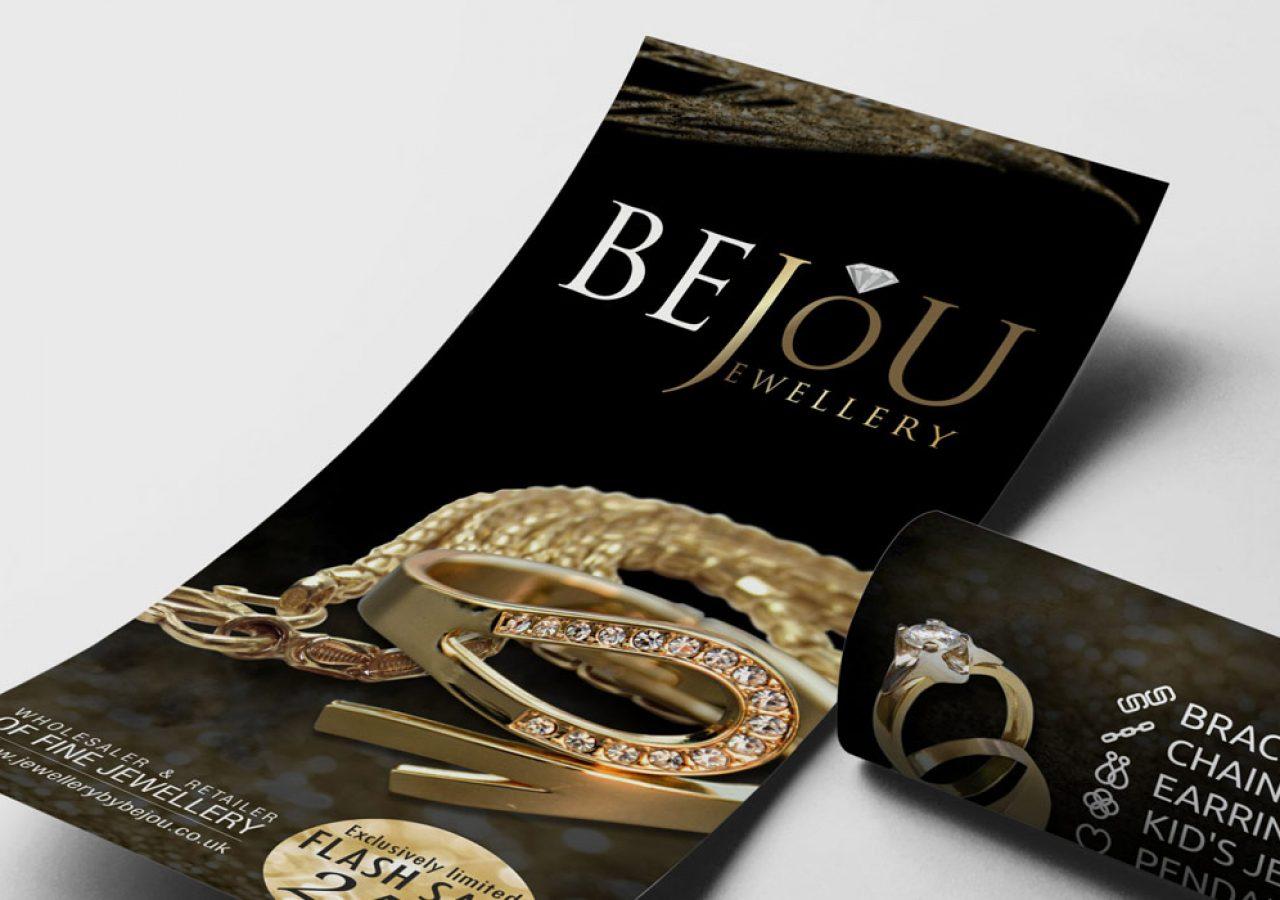 Bejou Jewellery - Projekt ulotki - Białystok - Warszawa