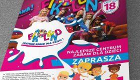Projekt ulotki – Fikoland Centrum Zabaw