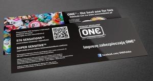 One Condoms - Projekt ulotki - Białystok - Warszawa