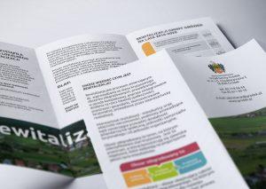 Rewitalizacja gminy Gródek - Projektowanie ulotek - Białystok