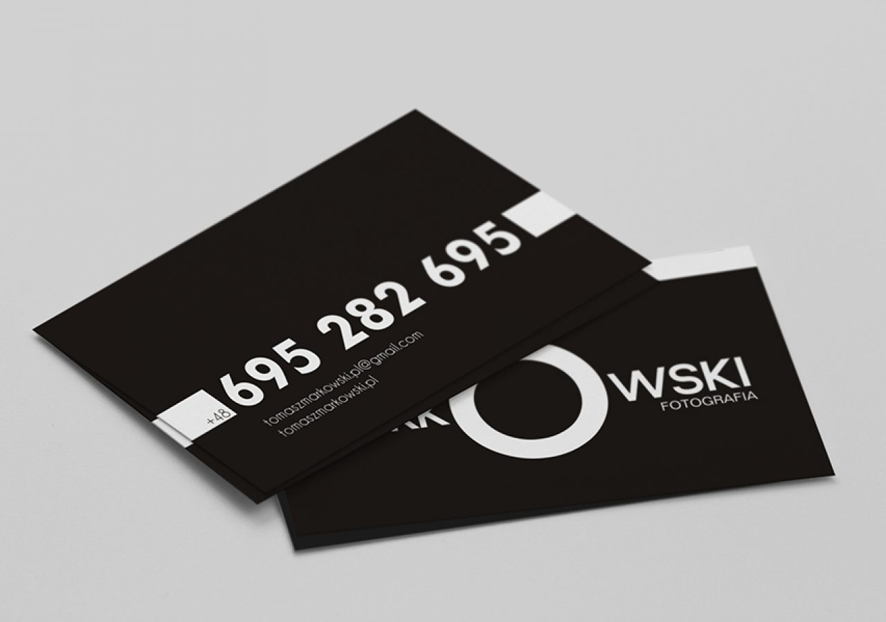Projekt wizytówki - Tomasz Markowski Białystok