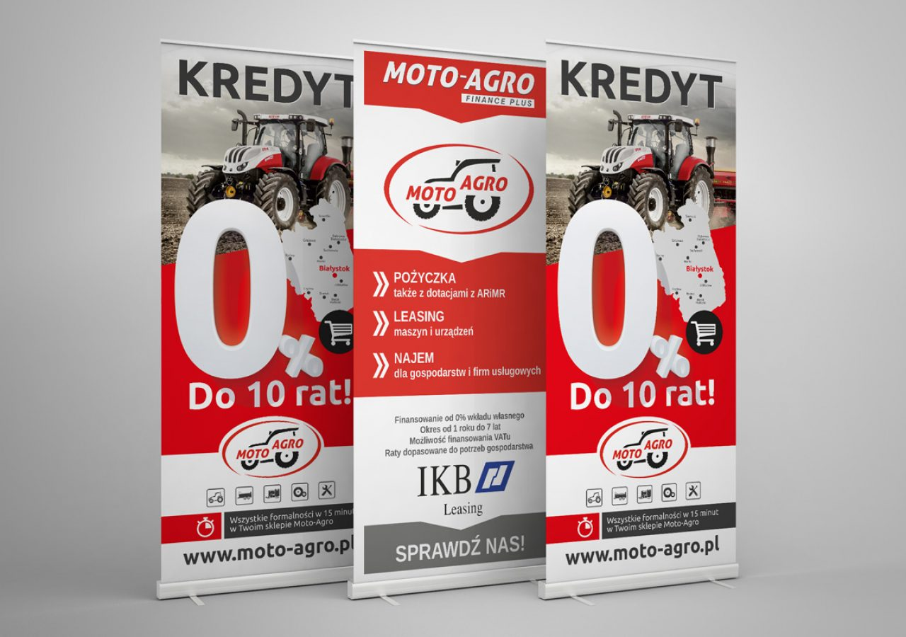 Rollup Białystok - Moto-Agro - Druk i projekt