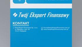 Rollup Twój Ekspert Finansowy | Projekt graficzny i druk