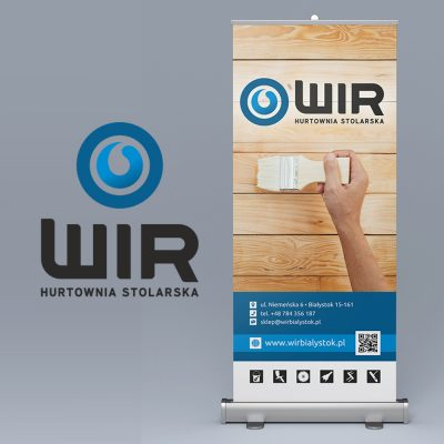 Rollup – Wir Hurtownia Stolarska | Projekt graficzny i wykonanie