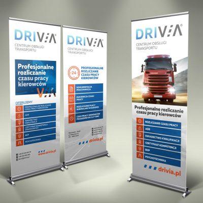 Rollup – Drivia Centrum Obsługi Transportu   Projekt graficzny i druk