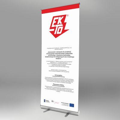 Rollup – Ekto Sp. z o.o.   Projekt graficzny i druk
