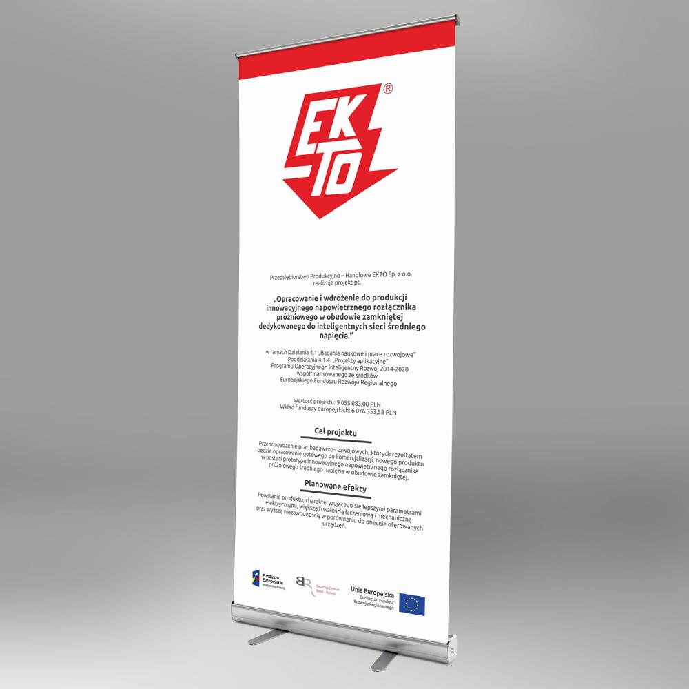 Rollup – Ekto Sp. z o.o. | Projekt graficzny i druk