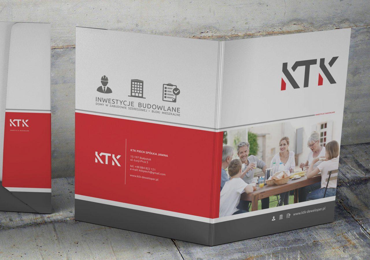 Teczki ofertowe / reklamowe Białystok - KTK Deweloper