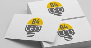 B4 Led - Projekt logo - Białystok - Warszawa